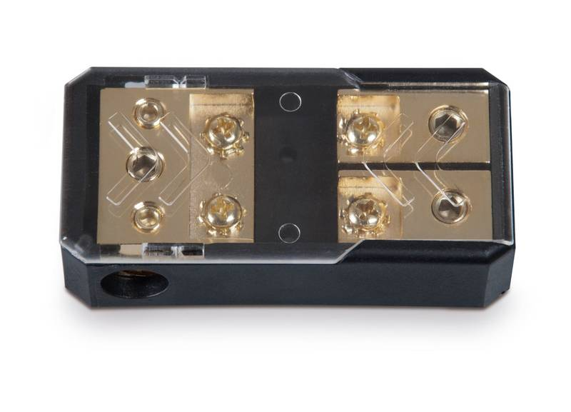 Sinuslive 2 Fach Car-HiFi Mini-ANL Sicherungshalter KFZ M-ANL 1-2//35 vergoldet
